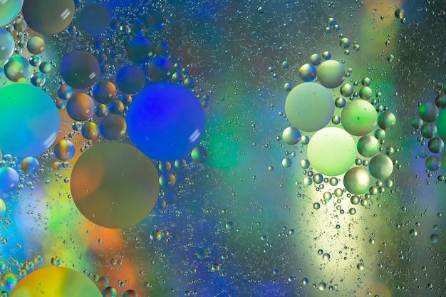 Círculo petróleo & água abstrato colorido macro background