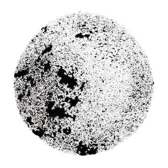 Círculo preto estampado com manchas - espaço para seu próprio texto - ilustração raster