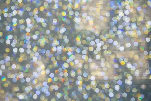 Círculos bokeh coloridos abstratos para o fundo de natal ou ano novo