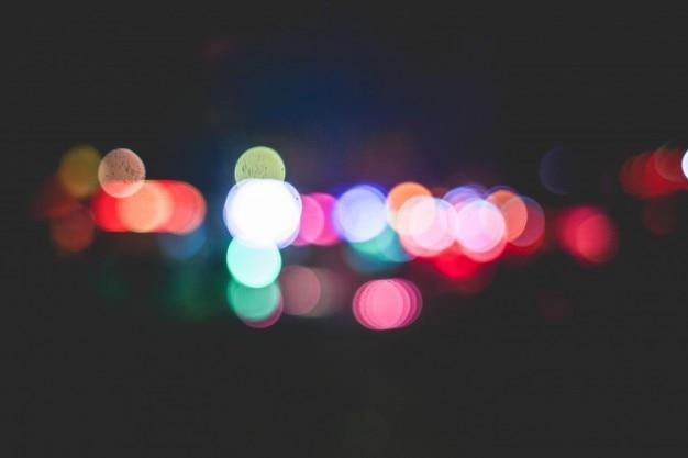 Círculos borrados coloridos