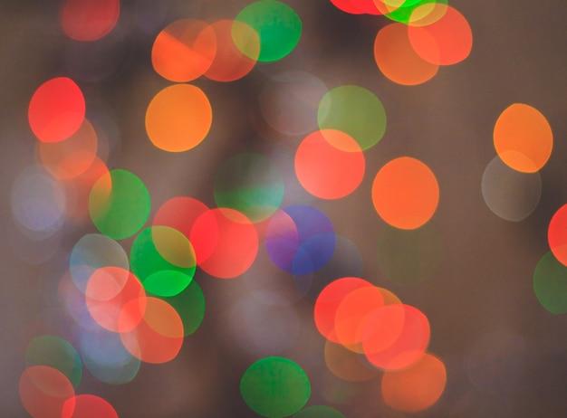 Círculos coloridos da lâmpada led.