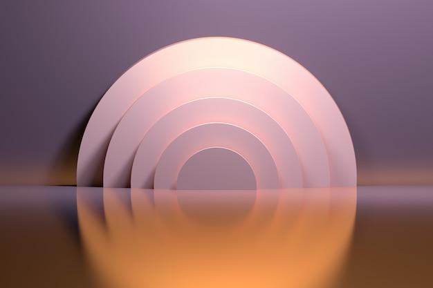 Círculos de anéis de ouro