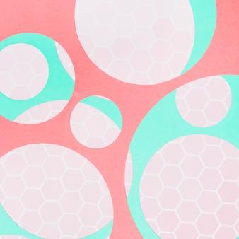 Círculos translúcidos abstraem base