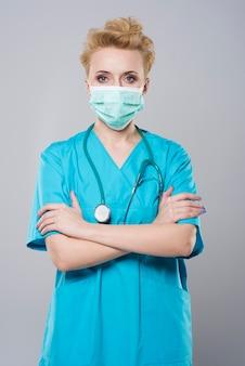 Cirurgião antes de uma operação séria