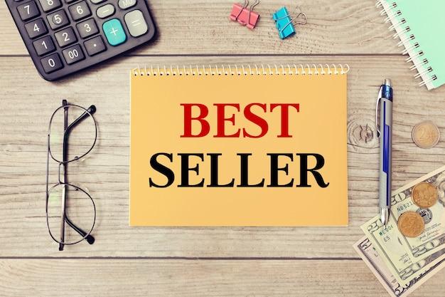 Citação de incentivo de motivação escrita em bloco de notas - best seller