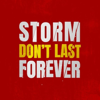 Citação de tempestade não dura para sempre Foto Premium