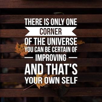 Citação positiva para inspiração e motivação na vida. capacite sua mente para um ótimo pensamento.
