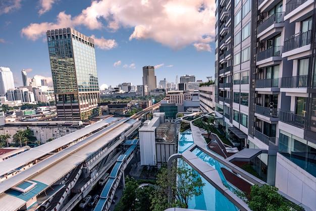 Cityscape. construção e paisagem urbana.
