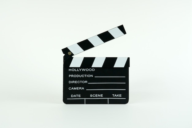 Claquete de cinema com espaço de cópia.