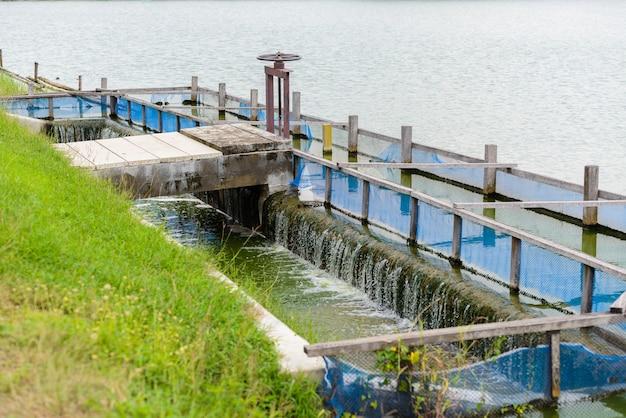 Clarificador, bacia de aeração de estação de tratamento de águas residuais
