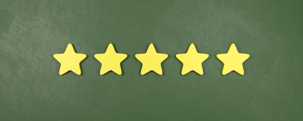 Classificação de cinco de cinco estrelas, conceitos de classificação muito bons