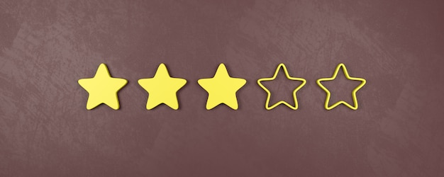 Classificação de três estrelas em cinco, conceitos de classificação média