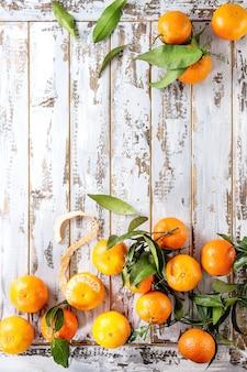 Clementinas com folhas