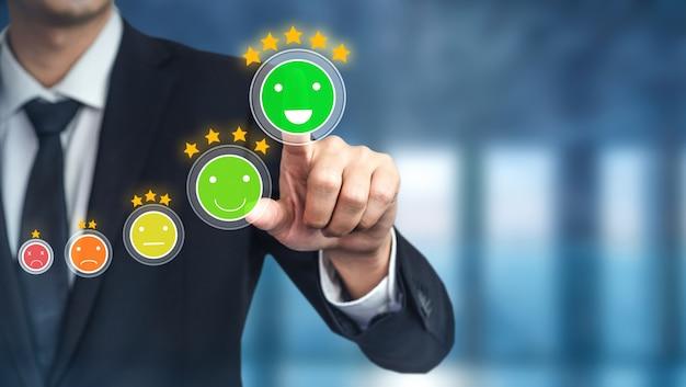 Cliente rever o conceito de pesquisa de feedback de satisfação.