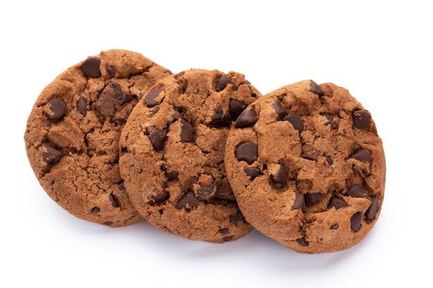 Close com biscoitos de chocolate