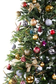 Close da árvore de natal decorada