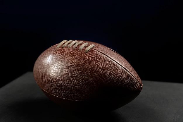 Close da composição da bola de rúgbi