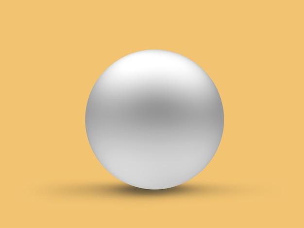 Close da esfera de prata. 3d