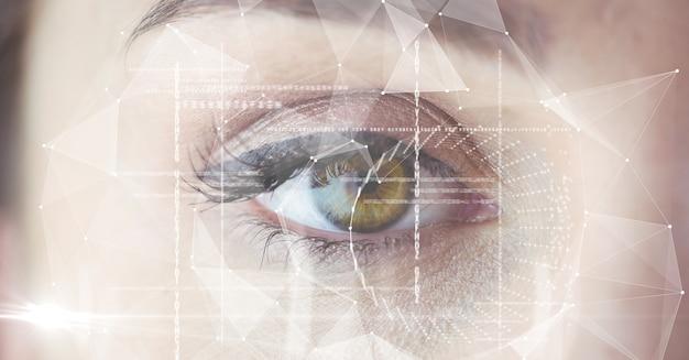 Close da interface do olho