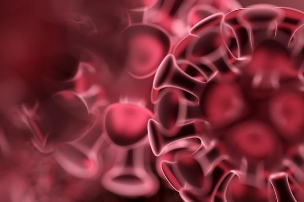 Close da renderização 3d do vírus da gripe covid2019