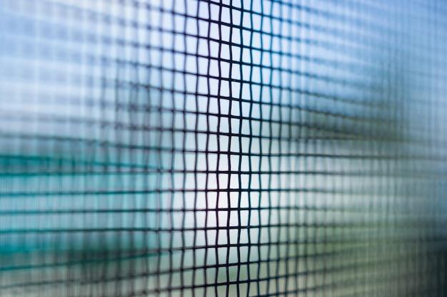 Close da tela de arame da janela da rede mosquiteira