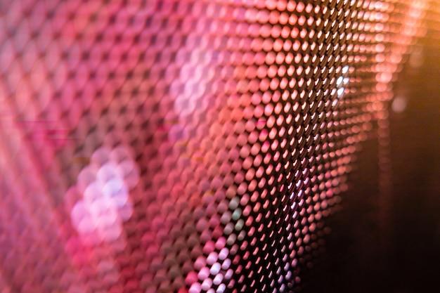 Close da tela de led desfocada