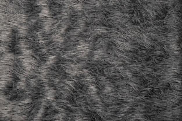 Close da textura de pelo cinza