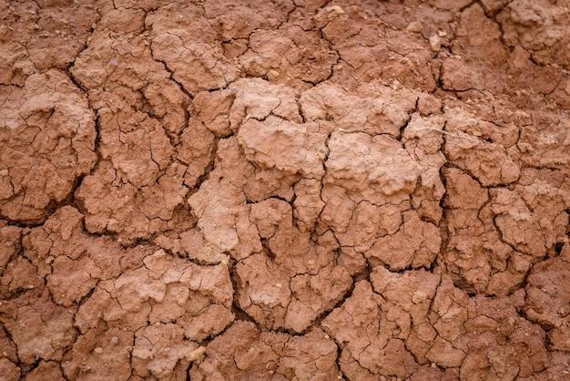 Close da textura marrom do solo seco