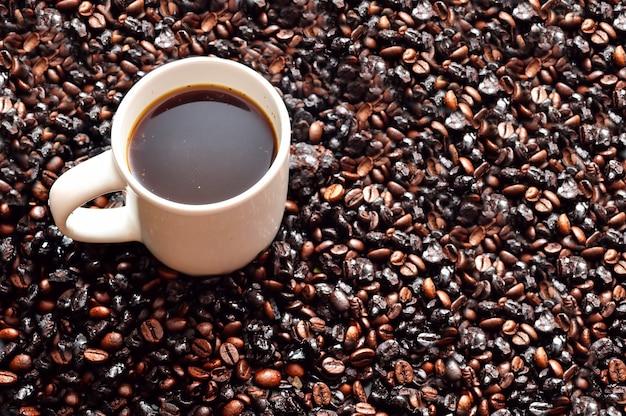 Close da xícara de café