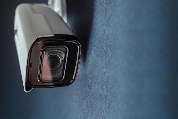 Close de câmera de cctv. sistema de segurança.