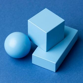 Close de figuras geométricas minimalistas
