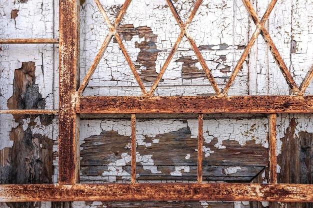 Close de fundo de metal enferrujado