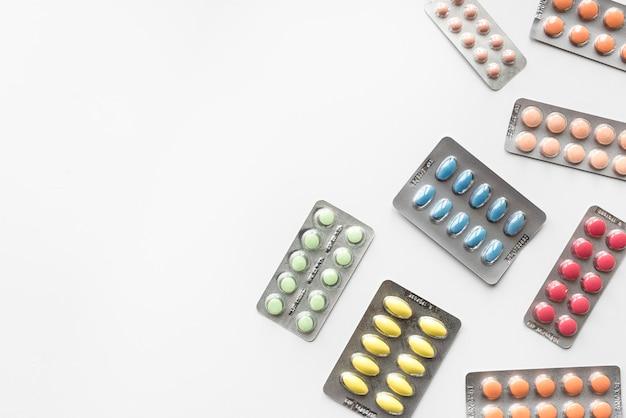 Close de medicamentos