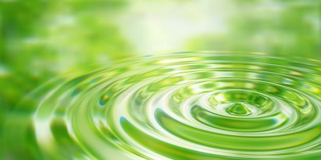 Close de respingo de gota de água na superfície da água ilustração 3d