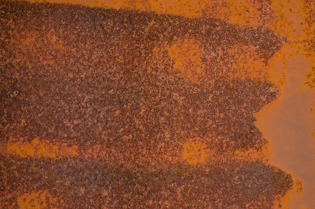 Close de textura de metal enferrujado