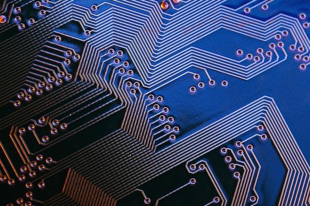 Close de textura de um chip de computador