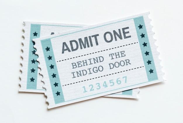 Close de um conceito de entretenimento bilhete de entretenimento show