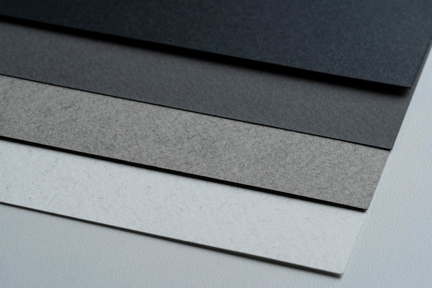 Close de um material de papel em branco limpo