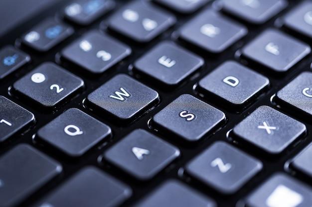 Close de um teclado