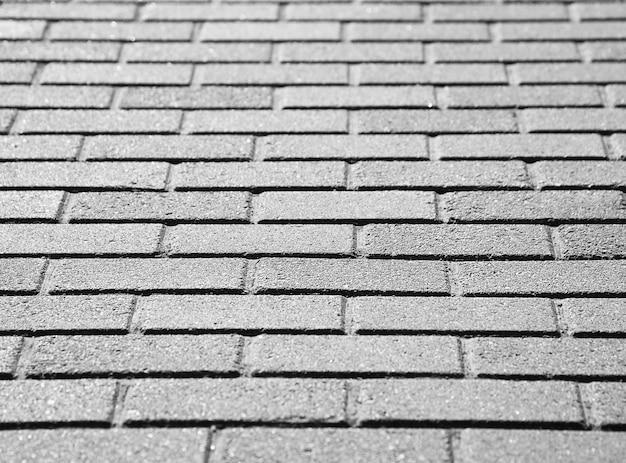 Close detalhado do fundo do pavimento da rua