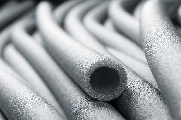 Close do isolamento para tubos