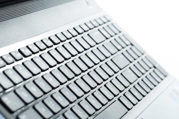 Close do teclado