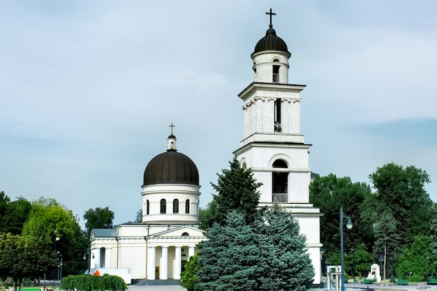 Close na bela catedral de cristo