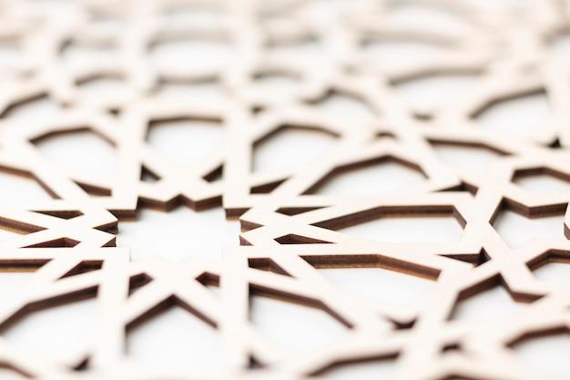 Close na decoração islâmica de ano novo