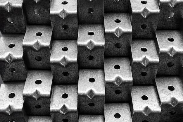 Close-up abstrato metálico