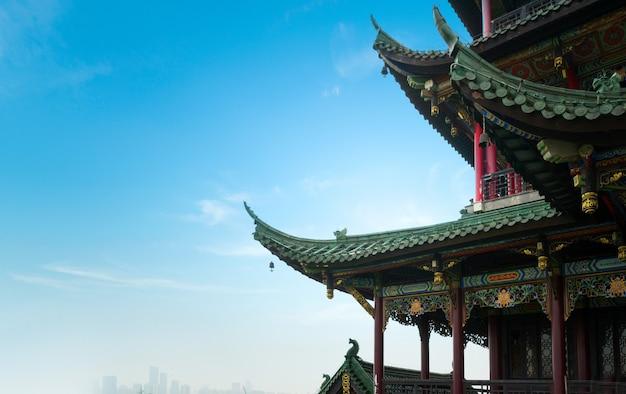 Close up antigo do pagode do templo da arquitetura, chongqing, porcelana