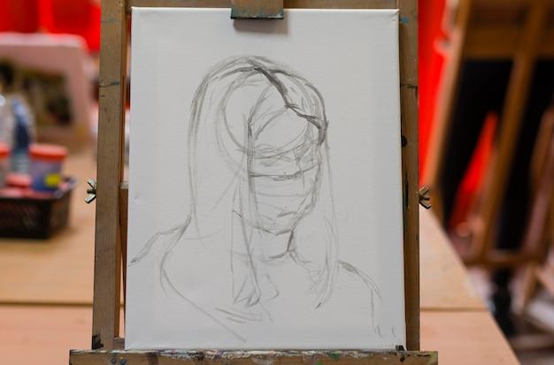 Close up artist sketch