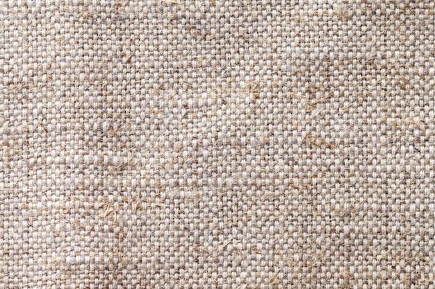 Close up bege claro do fundo de matéria têxtil. estrutura da macro de malha