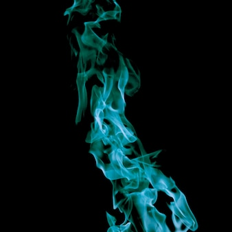Close-up blue fire