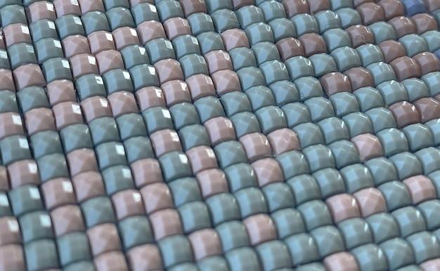 Close-up, bordado de diamante quadrado colorido brilhante. hobbies e entretenimento.